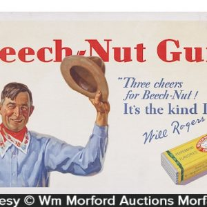 Beech-Nut Gum Will Rogers Sign