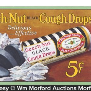 Beech-Nut Cough Drops Sign