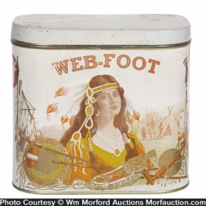 Web-Foot Cigar Can