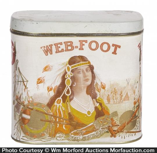 Web-Foot Cigar Can