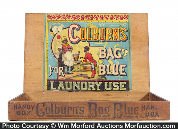 Colburn's Bag Blue Laundry Box