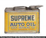 Gulf Supreme Oil Can