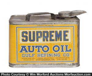 Gulf Supreme Oil Can