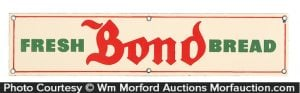 Bond Bread Porcelain Sign