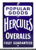 Hercules Overalls Porcelain Door Push