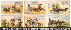 Currier & Ives Livery Goods Trade Cards