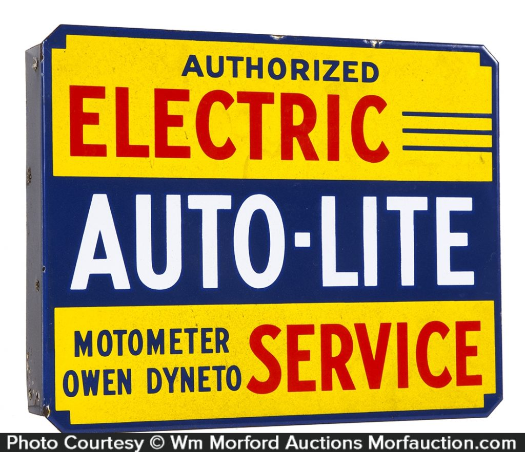 Auto-Lite Service Porcelain Sign