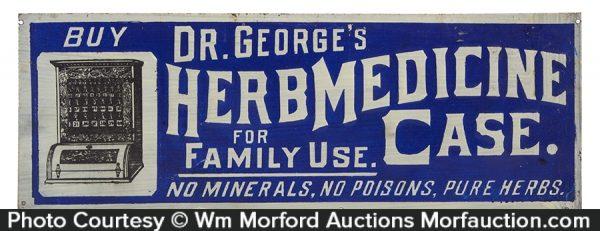 Dr. George's Herb Medicine Sign