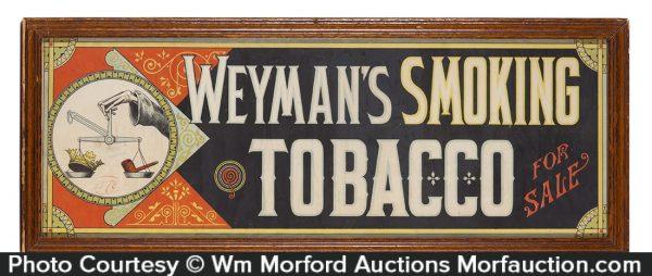 Weyman's Tobacco Sign