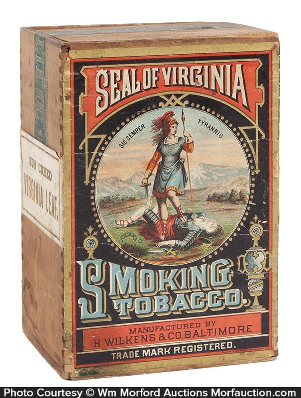 Seal Of Virginia Tobacco Box