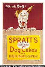Spratt's Dog Cakes Poster