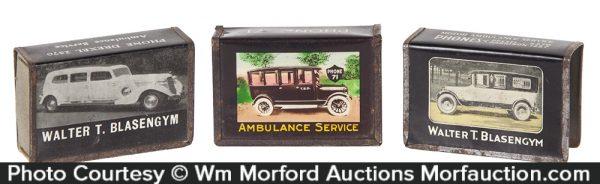Ambulance Service Matchbox Holders