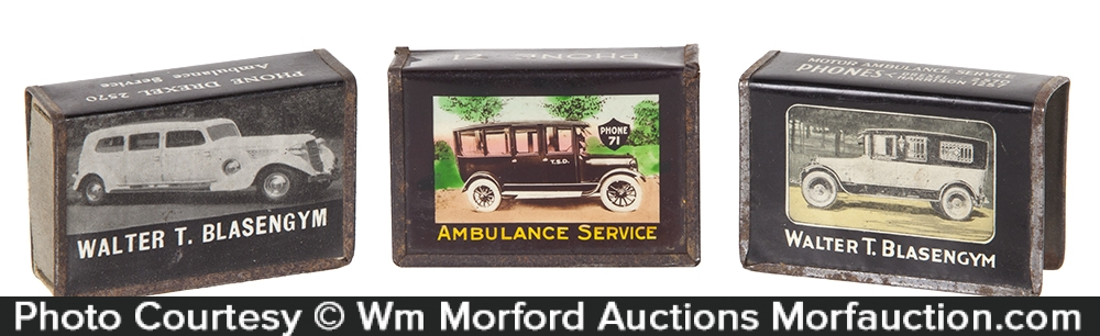 Ambulance Service Matchbox Holders