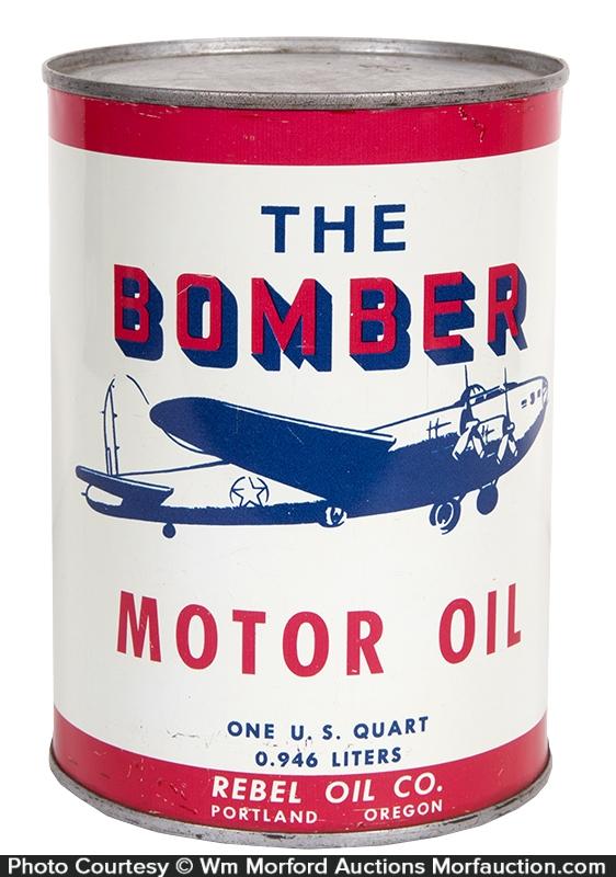 Bomber Motor Oil Can