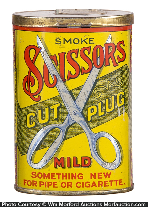 Scissors Pocket Tobacco Tin