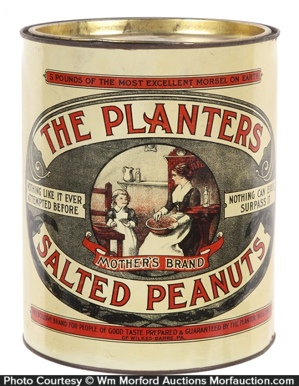 Planters Mother's Brand Salted Peanuts Tin