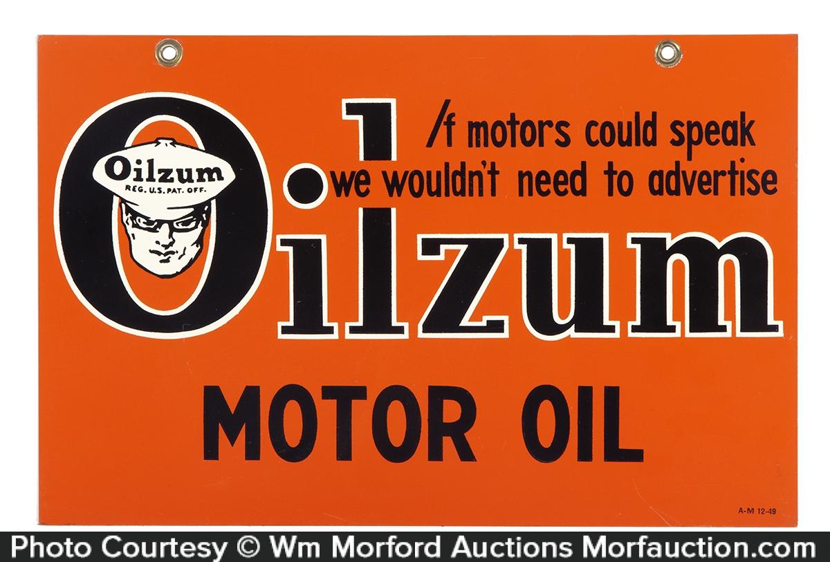 Oilzum Motor Oil Sign