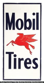 Mobil Tires Sign