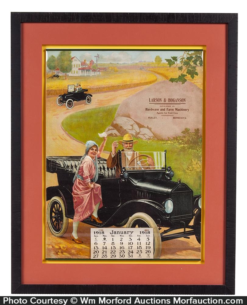Large 1918 Ford Calendar