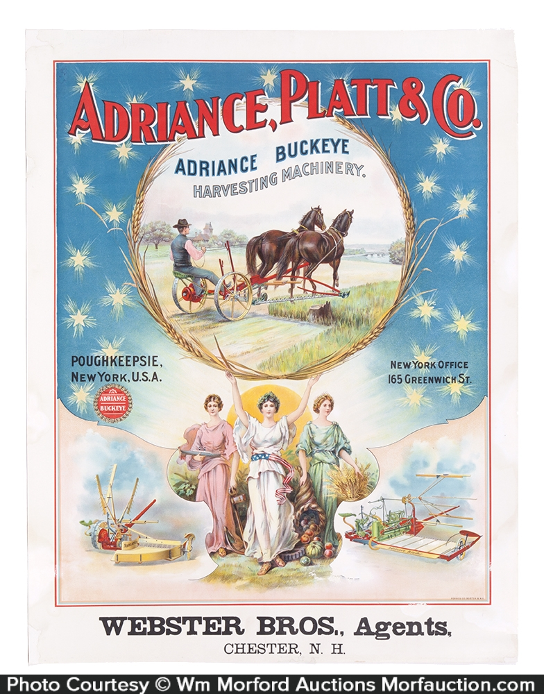 Adriance, Platt & Co. Harvesting Machinery Poster