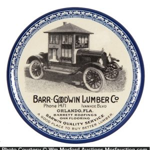 Bar Goodwin Lumber Co. Paperweight Mirror