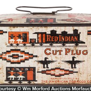 Red Indian Tobacco Lunchbox Tin