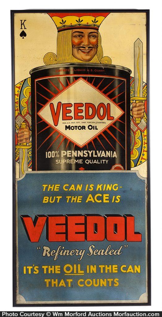 Veedol Motor Oil King Sign