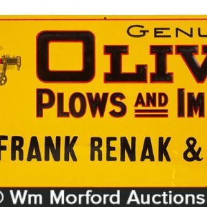Oliver Plows Sign