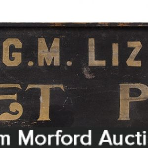 Corset Parlor Wooden Store Sign