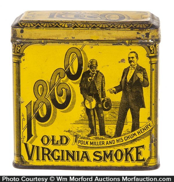 1860 Old Virginia Tobacco Tin