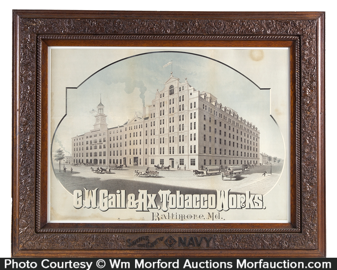 Gail & Ax Tobacco Works Sign