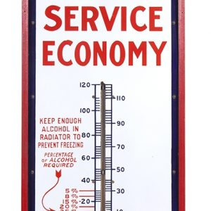 Red Crown Gasoline Porcelain Thermometer