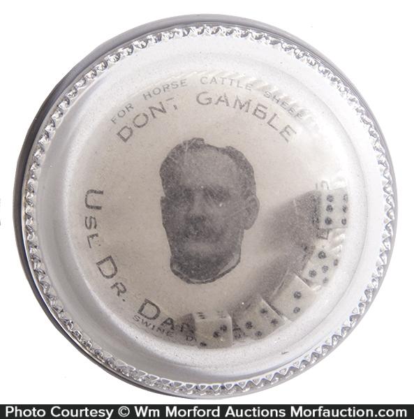 Dr. Daniels Gambling Paperweight