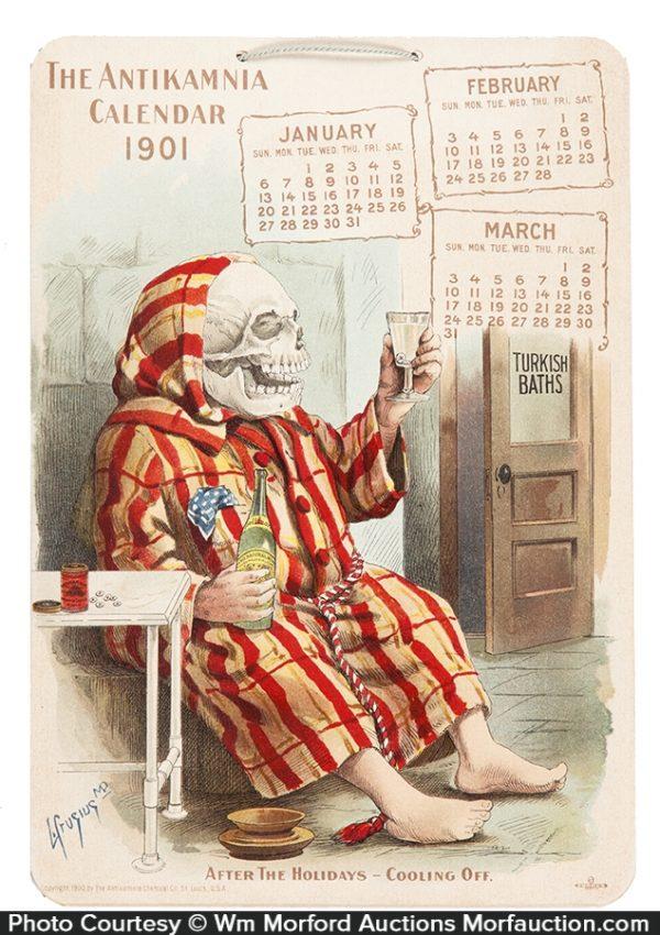 1901 Antikamnia Calendar