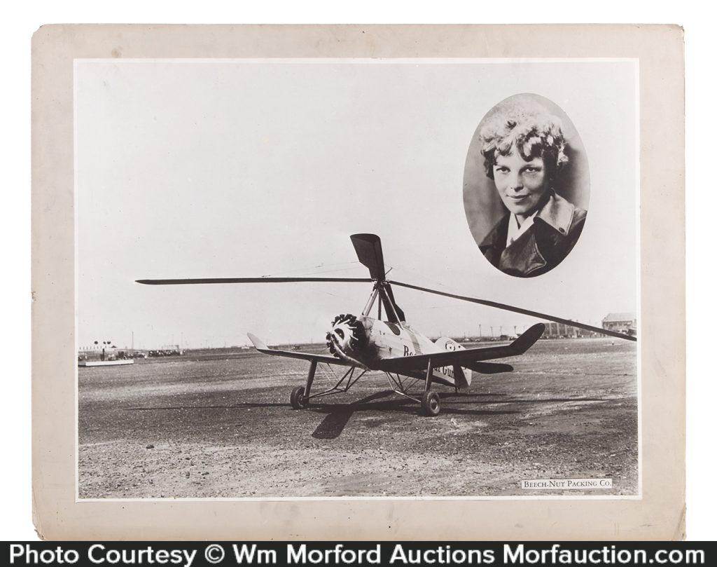 Amelia Earhart Beech-Nut Sign