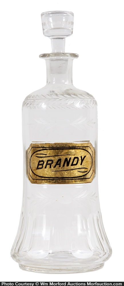Fancy Back Bar Brandy Bottle