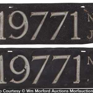 Pre State Issued New Jersey License Plates