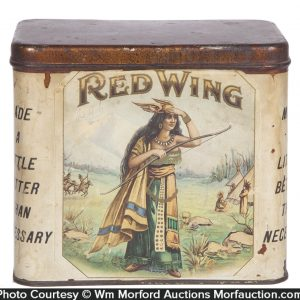 Red Wing Cigar Can