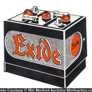 Exide Car Batteries Flange Sign