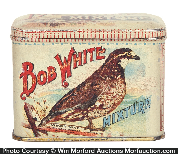 Bob White Mixture Tobacco Tin