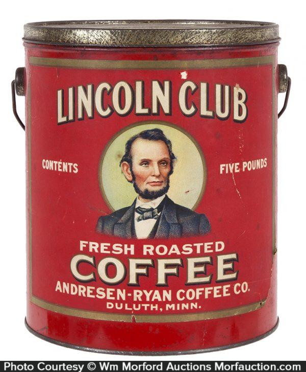 Lincoln Club Coffee Pail