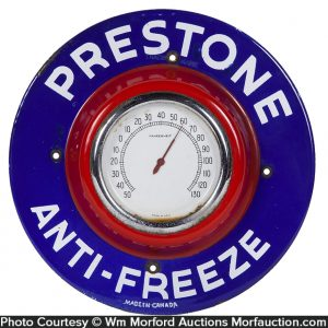 Porcelain Prestone Anti-Freeze Thermometer