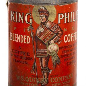 King Philip Coffee Can