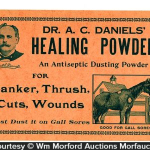 Dr. Daniels Healing Powder Sign