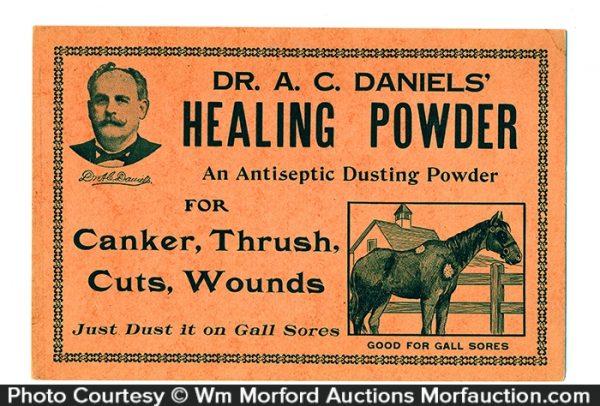 Dr. Daniels Healing Powder Sign