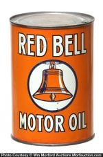 Red Bell Motor Oil Can
