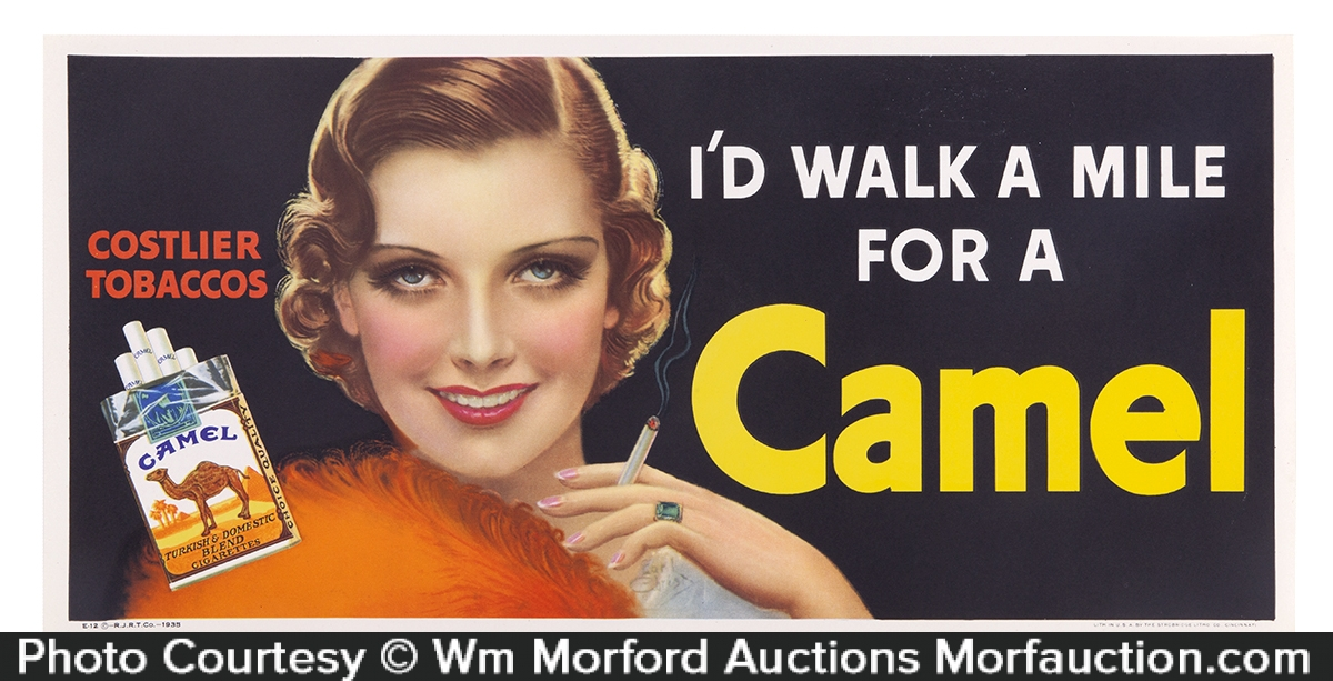Walk A Mile Camel Cigarettes Sign