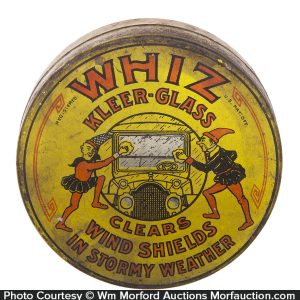 Whiz Kleer-Glass Cleaner Tin
