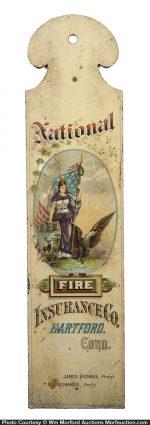 National Fire Insurance Ledger Marker