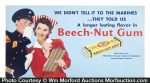 Beech-Nut Gum Trolley Sign